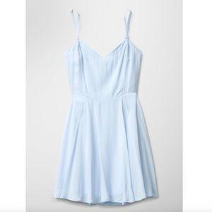 aritizia baby blue lipinski dress